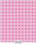 Wallpaper - Cane Lattice Pink Reverse