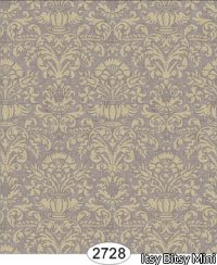 Wallpaper - Annabelle Mini Damask Brown Chocolate