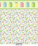 Wallpaper Sew Perfect Pins Multi White Background