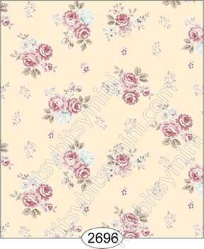 Wallpaper Rose Hill Small Floral Pink - Click Image to Close
