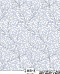 Wallpaper Willow Blue Periwinkle