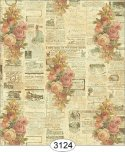 Wallpaper - Rose Newsprint