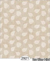 Wallpaper Birch Leaf Silhouette Brown Beige