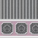 Wallpaper - Annabelle Wainscot Mural Black Variation 4