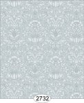 Wallpaper - Annabelle Mini Damask Blue Tourmaline
