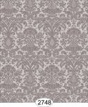 Wallpaper - Annabelle Mini Reverse Damask Brown Chocolate