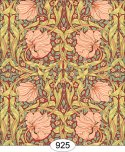 Wallpaper - Victorian Tulips - Red