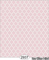 Wallpaper Geometric Trellis Reverse Pink Light