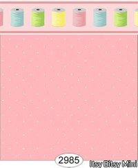 Wallpaper Sew Perfect Dot Pink Dark