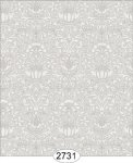Wallpaper - Annabelle Mini Damask Grey Silver