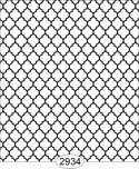 Wallpaper Geometric Trellis Black