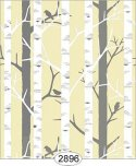 Wallpaper Birch Tree Yellow