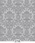 Wallpaper - Annabelle Mini Reverse Damask Black