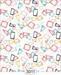 Wallpaper Retro Floating Shapes Multicolor
