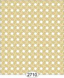 Wallpaper - Cane Lattice Yellow Gold