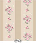 Wallpaper - Daniella Floral Stripe - Beige No Border