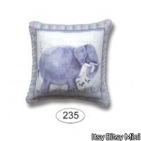 Pillow - Baby Safari - Elephant