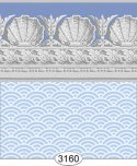 Wallpaper Jolie Shell Blue