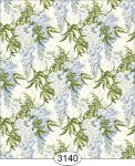 Jolie Blue Wisteria Floral Dollhouse Wallpaper