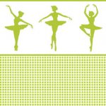 Wallpaper - Ballerina Silhouette Green - Check