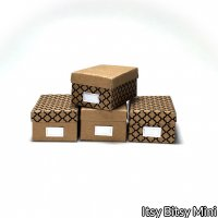 Dollhouse Kraft Photo Storage Box Kit - Makes 4