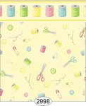 Wallpaper Sew Perfect Notions Yellow