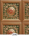 Rosette Panel Paper Gold Green Red