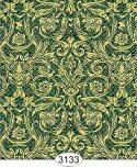 Wallpaper - Festive Damask Gold on Green