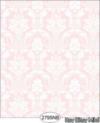 Wallpaper - Daniella Damask - Pink No Border