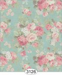 Wallpaper - Roses on Teal Background