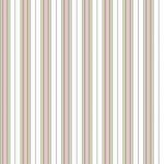 Wallpaper - Victorian Rose Salmon - Stripe NO BORDER