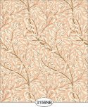 Jolie Willow Peach Wallpaper No Border