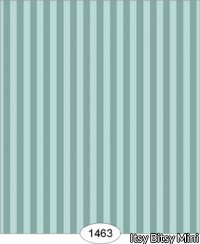 Wallpaper - Parisian - Stripe - Teal Blue