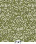 Wallpaper - Annabelle Damask Green Olive