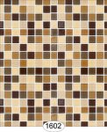 Wallpaper - Mosaic Tile - Brown and Light Brown