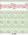 Wallpaper - Daniella Floral Damask - Green