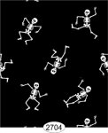 Wallpaper - Dancing Skeletons on Black