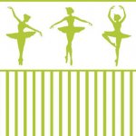 Wallpaper - Ballerina Silhouette Green - Stripe