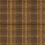 Wallpaper - Antique Beer Can Labels Brown Plaid NO BORDER