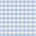 Wallpaper - Bird Blue on Cream Plaid