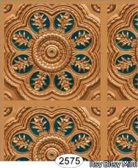 Medallion Panel Paper Gold with Blue