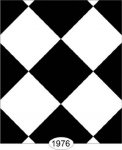 Wallpaper - Tile - Black and White Diamond - 0.75 inch