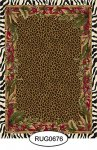 Rug - Tropical - Animal Print - 0675