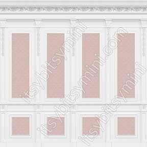 French Wall Panel Boiserie Pink - Click Image to Close