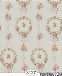Wallpaper - Rose Wreaths with Ribbon