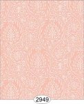 Wallpaper Birch Damask Orange Peach