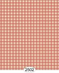 Wallpaper - Cottage Plaid - Orange Coral