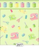 Wallpaper Sew Perfect Notions 2 Green