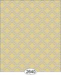 Wallpaper Rose Hill Trellis Grey Yellow