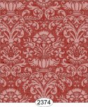 Wallpaper - Annabelle Damask Red